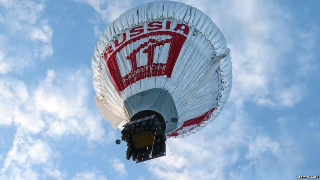 up and away russian attempts global balloon flight record   bbc news