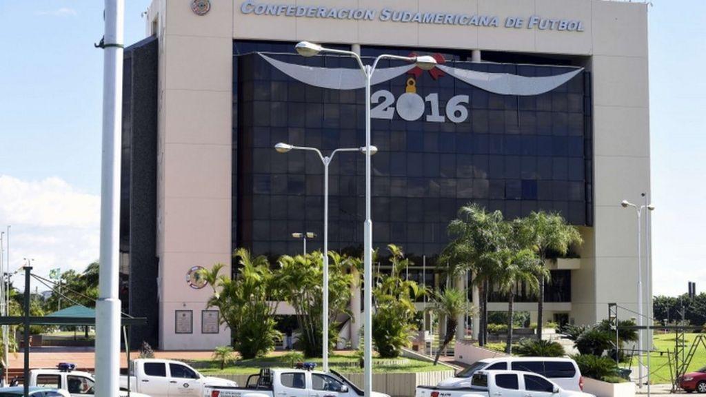 Paraguay police raid Conmebol HQ near Asuncion - BBC News