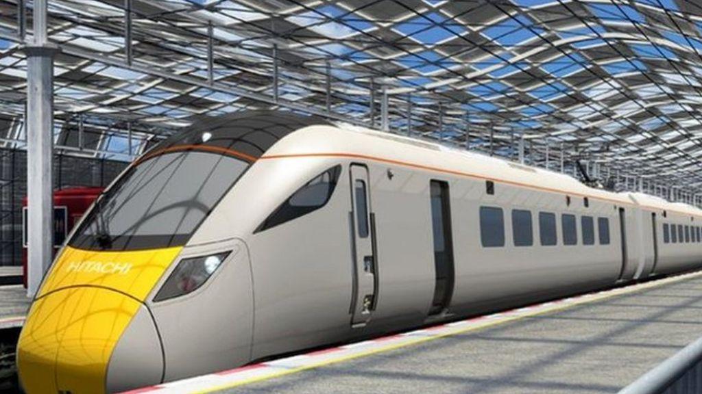 Artist impression of a electric train