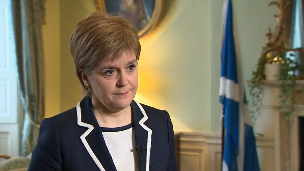 Sturgeon Scotland say in Brexit is 'matter of democratic principle'