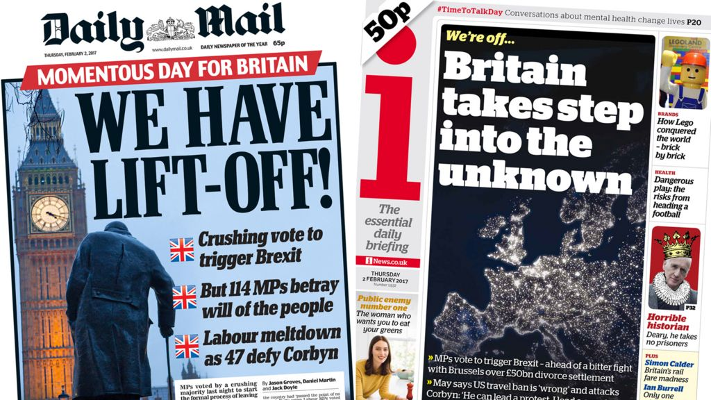 Newspaper Headlines: Rejoice And Revolts As 'Brexit Begins