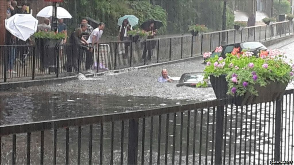 Flash flooding causes chaos in parts of England