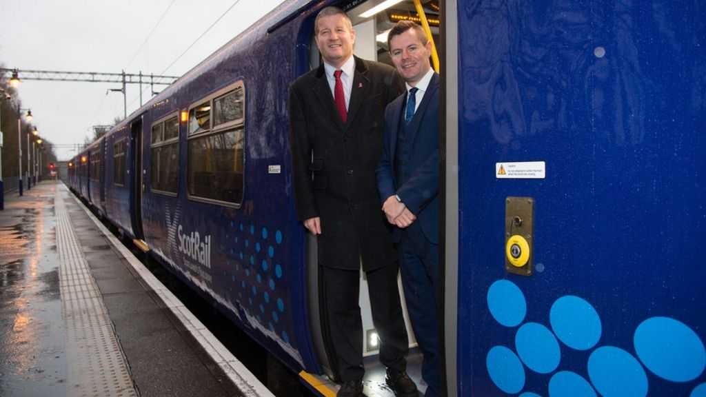 ScotRail Alliance managing director Phil Verster and Transport Minister Derek Mackay unveiled the improvement programme