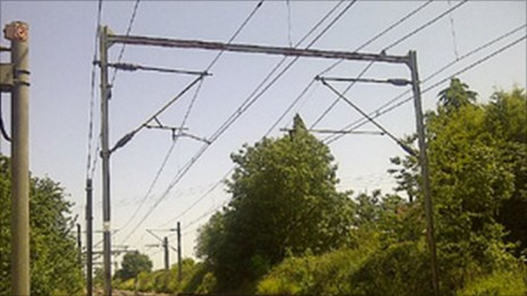 Overhead lines at Margaretting, in Essex