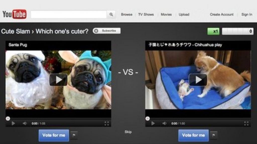YouTube Slam begins video clip battles for users' votes - BBC News