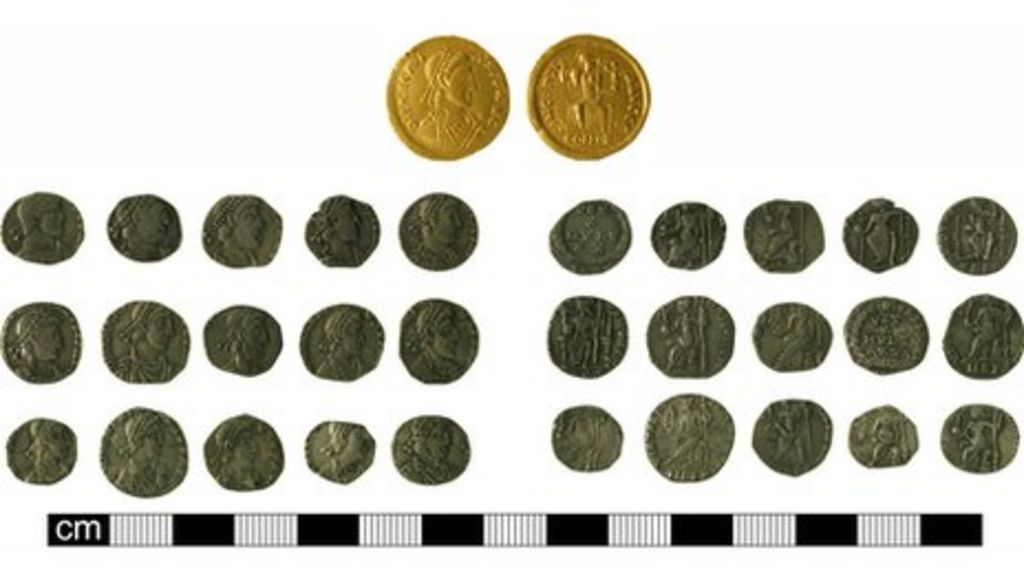 Suffolk roman gold and silver coins declared treasure bbc news