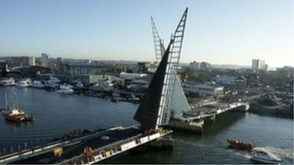 Poole's Twin Sails Bridge to open in time for Easter - BBC ...