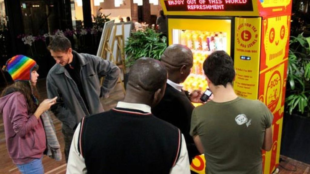 Bos Ice Tea Vending Machine Vending Machine Offers Tea For