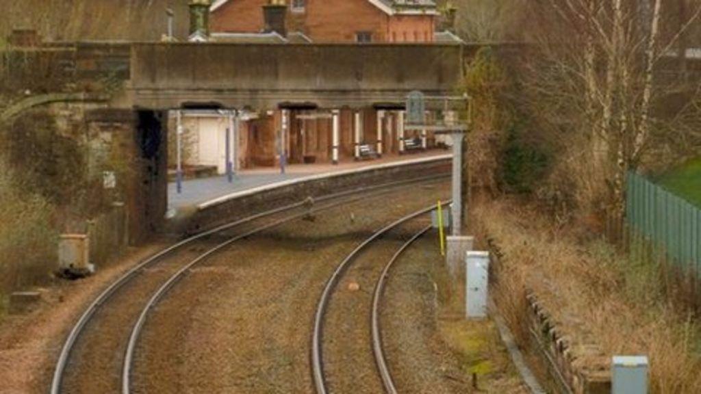 Rail route near Dumfries