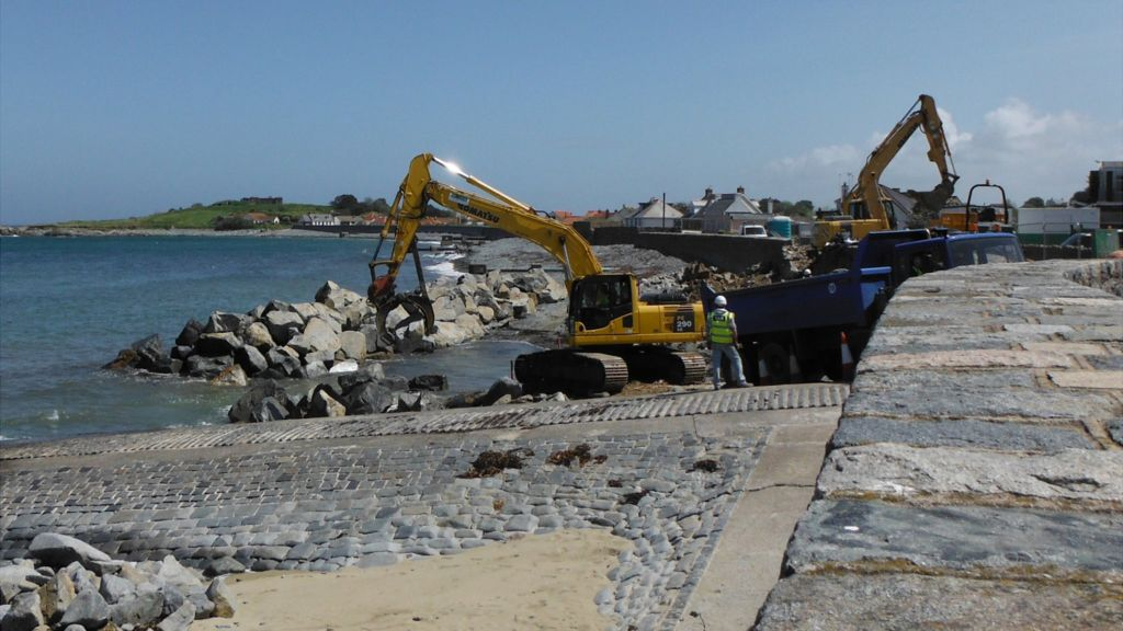 Guernsey Coast Road At Perelle Reopens After Repairs Bbc