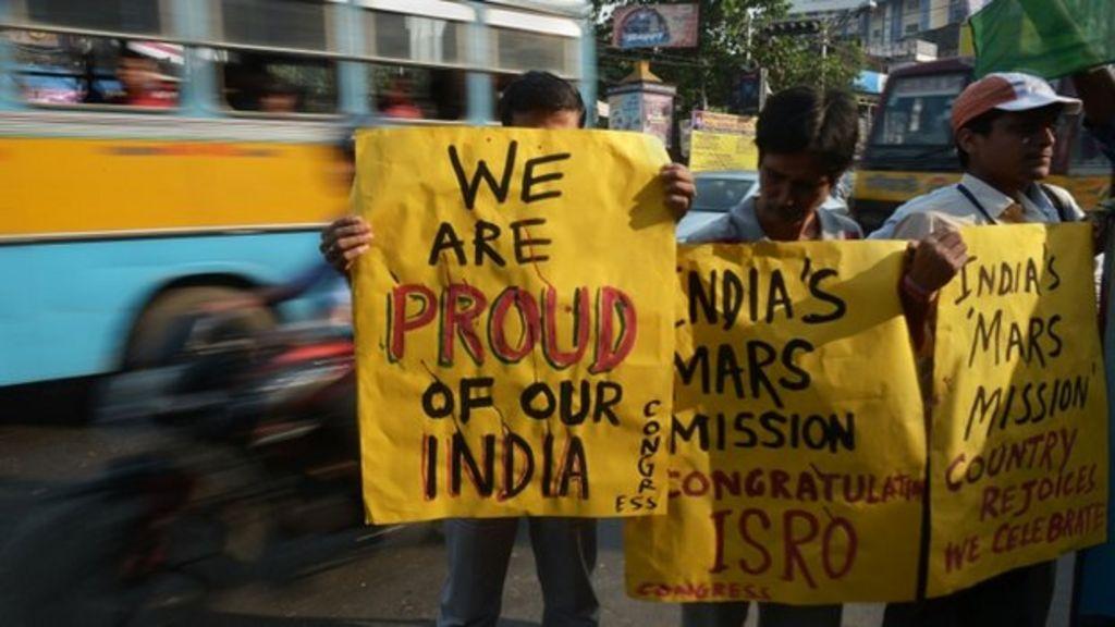 Indian media praise 'historic' Mars mission - BBC News