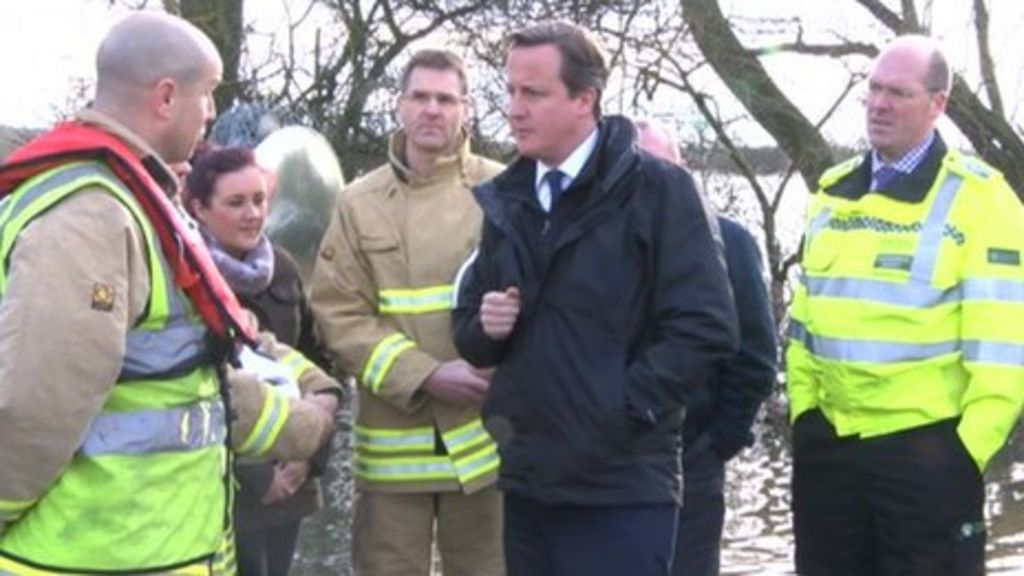 David Cameron Visits Oxford Flood Areas Bbc News