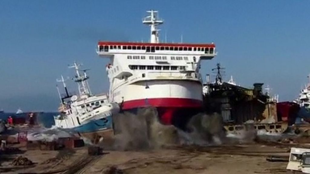 Ferry says farewell with a bang bbc news - Where is zeebrugge ferry port ...