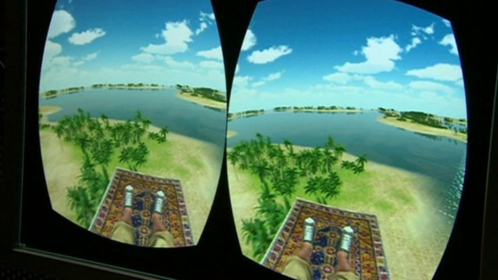 Transporting air passengers to a virtual reality world ...