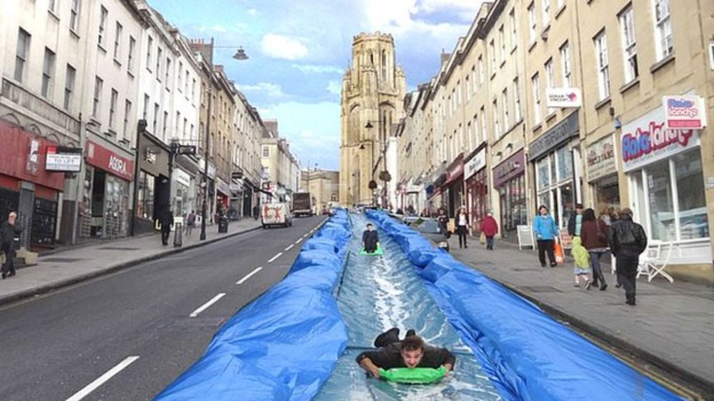 Bristol Park-and-Slide: thousands apply to ride water chute - BBC ...