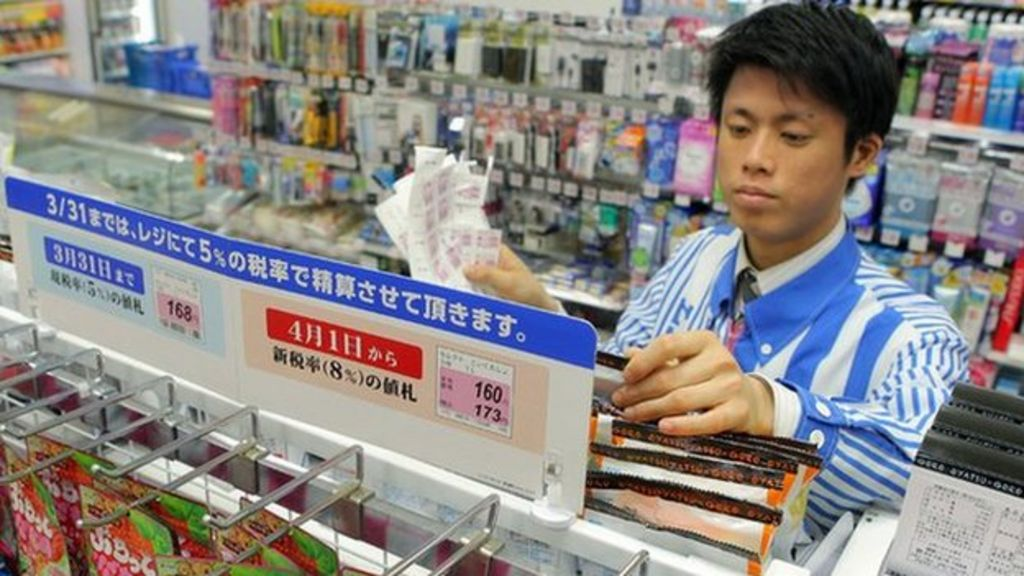 Japan raises sales tax for first time in 17 years - BBC News