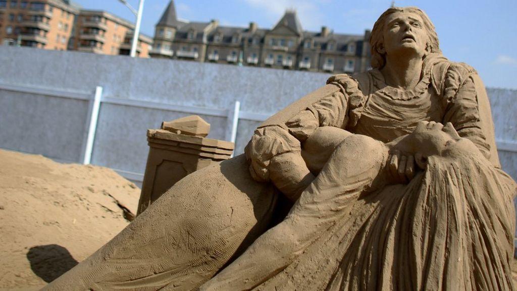 weston-super-mare sand sculpture festival begins