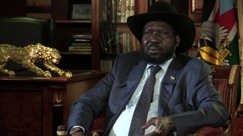 South Sudan President Salva Kiir in famine warning - BBC News