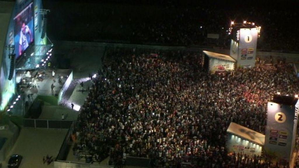 Argentina fans pack Copacabana beach - BBC News