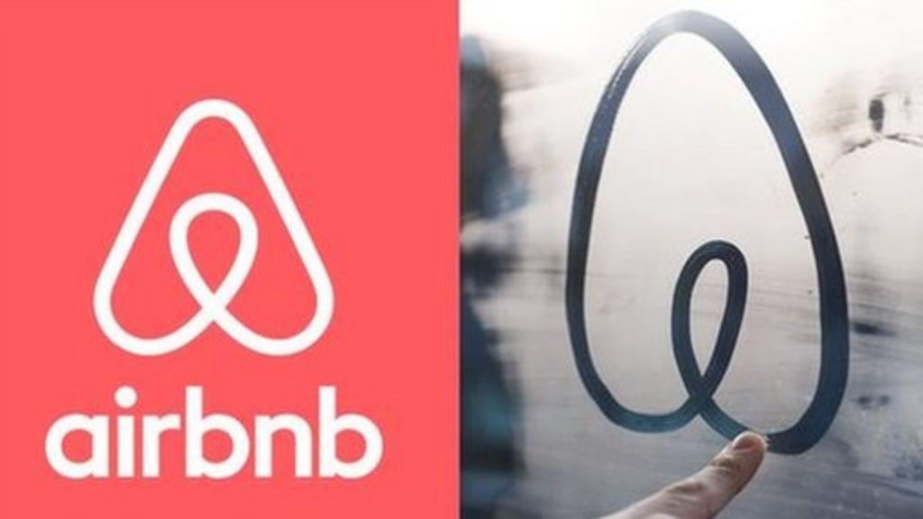 Airbnb's new logo faces social media backlash - BBC News