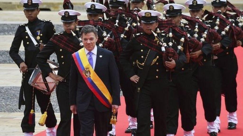 Colombian President Juan Manuel Santos sworn in - BBC News