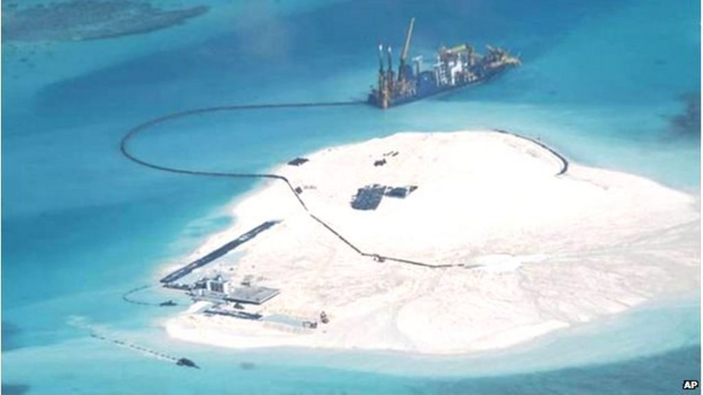 China to 'complete' South China Sea land reclamation - BBC ...