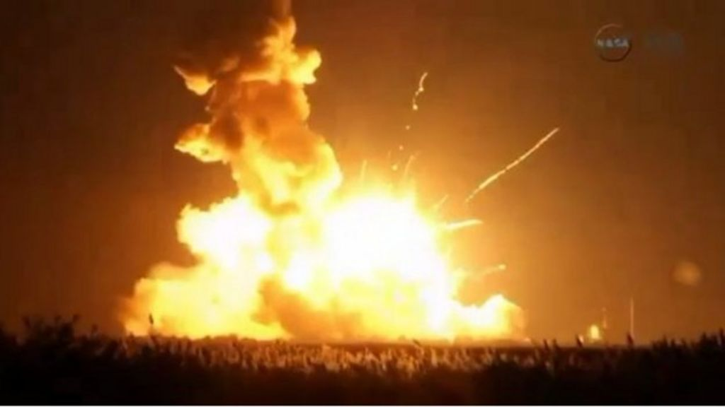 Unmanned US rocket Antares explodes during launch - BBC News