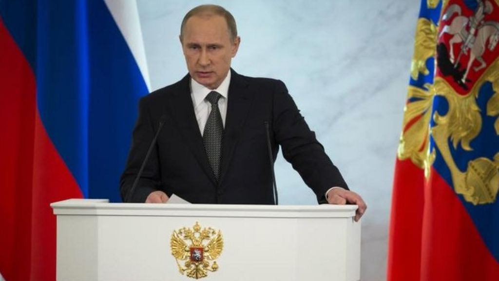 President Putin urges Russian resilience for hard times - BBC News