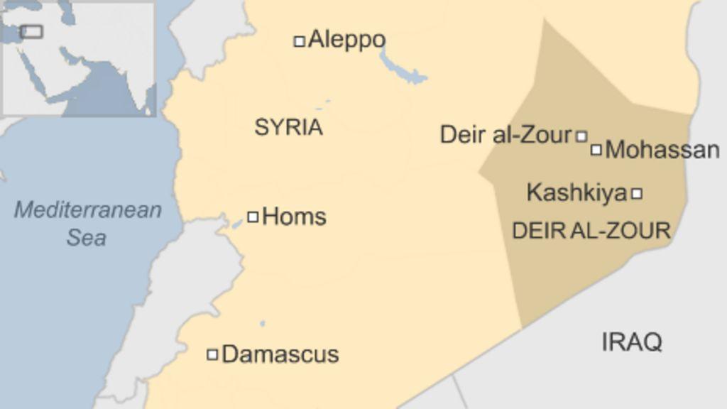 Syria conflict: 230 bodies 'found in mass grave' in Deir al-Zour - BBC ...