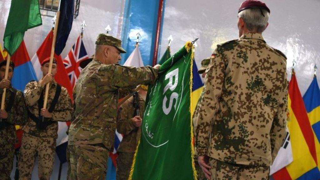 Nato marks transition to new Afghanistan mission - BBC News