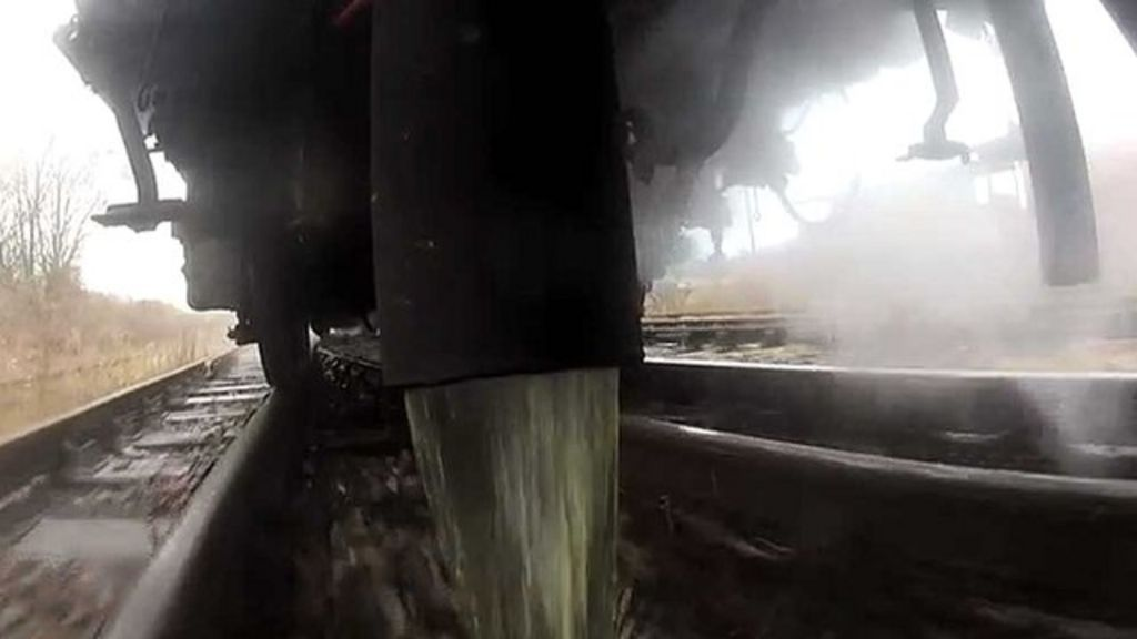 toilet waste horrors lurking on uk train tracks bbc news
