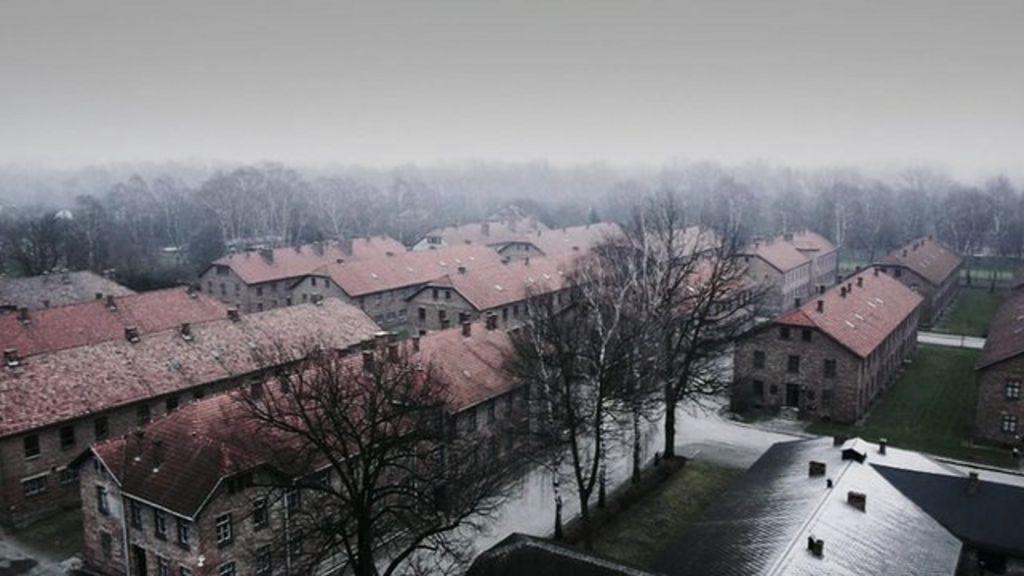 Aerial video of auschwitz birkenau bbc news