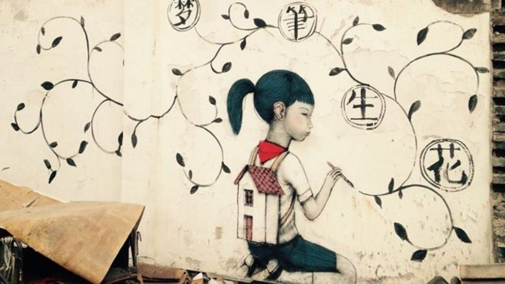Graffiti, demolition and angst in Shanghai - BBC News