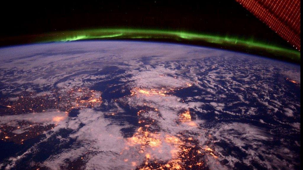 nasa astronaut photographs aurora borealis over scotland