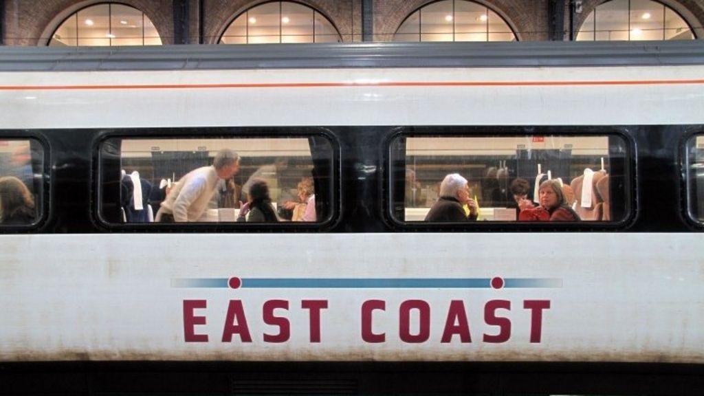 An East Coast line train