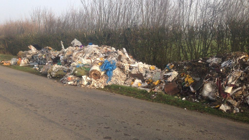 Tonnes of waste dumped at walsham le willows bbc news - Rd wastebasket ...