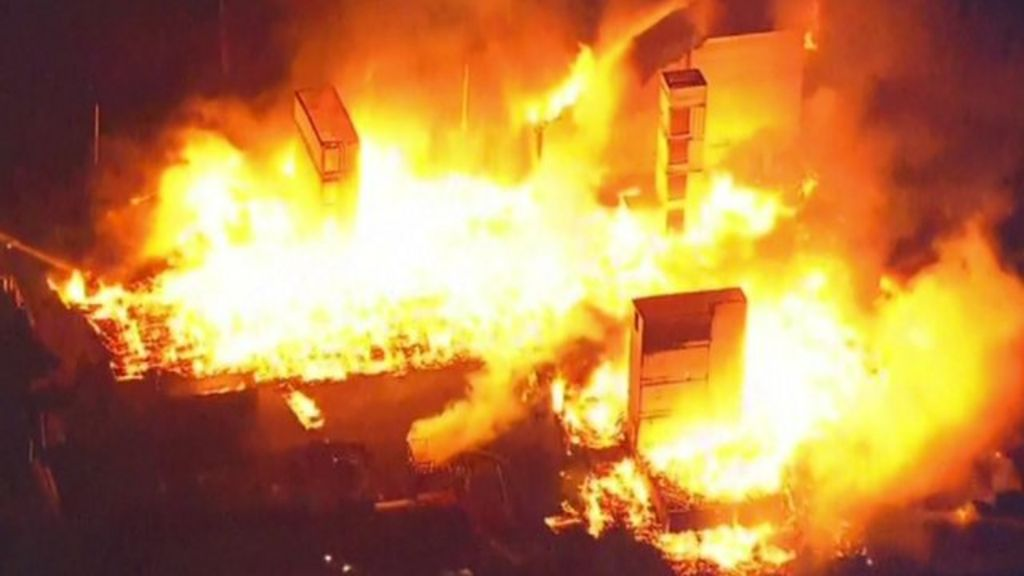 Baltimore protests: Police injured in clashes - BBC News
