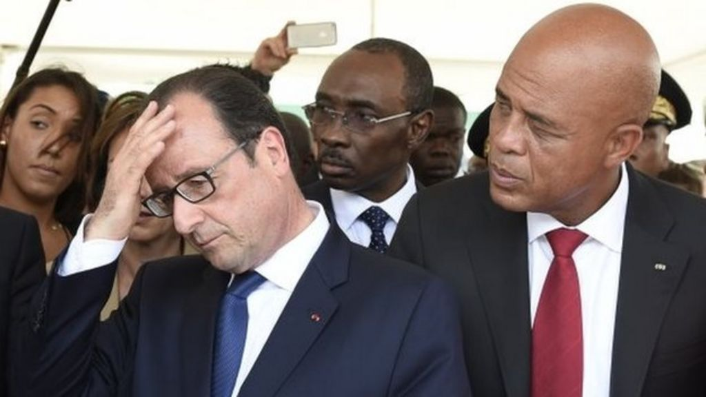 French President Hollande pledges Haiti investment - BBC News