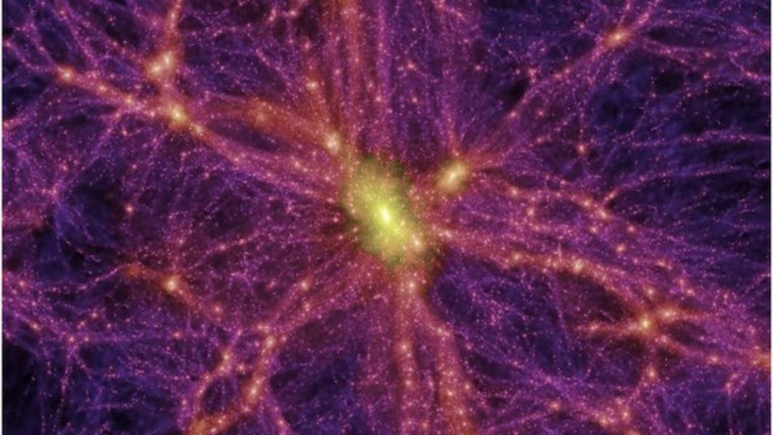 Computer-generated image of dark matter