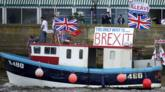 Brexit boat demonstration on Thames, 15 Jun 16