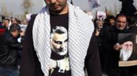 Qasem Soleimani on a shirt