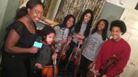 Ayshah with the Kanneh-Mason family