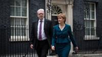 Nicola Sturgeon and Michael Russell