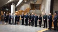 MSPs hold a minute's silence