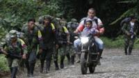 FARC during their journey towards a Transitional Local Zones for Normalisation, close to sector of Robles, Cauca, Colombia, 31 January 2017