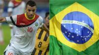 Rodrigo Souza Silva and a Brazil flag