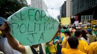 Protesto contra a corrupção e o governo Dilma Rousseff na avenida Paulista, em São Paulo, em 15 de março de 2015