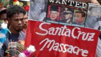 East Timorese demonstrators