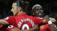 Manchester United stars Zlatan Ibrahimovic and Paul Pogba