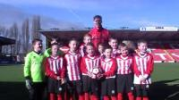 Kids from Lincoln City Youth Academy